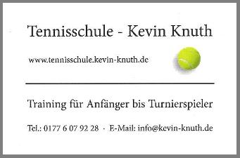 Tennisschule Kevin Knuth - Tennis in Dessau und Umgebung
