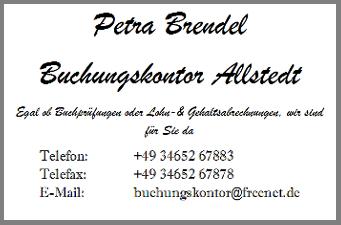 Petra Brendel Buchungskontor Allstedt